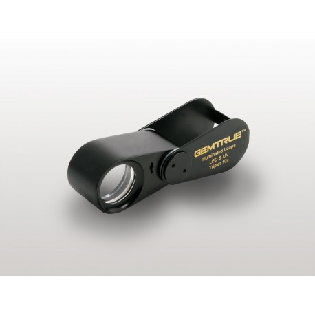 TRIPLA LENTE ILLUMINATA A LED & UV 10X