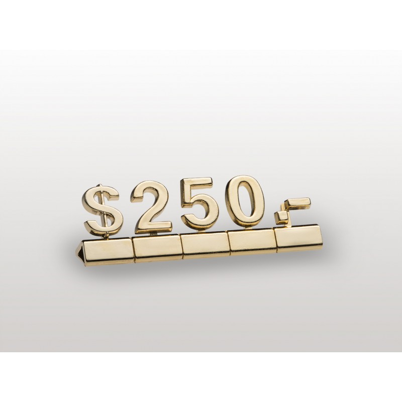 Prestige Pricing: Luxury Price Cubes Gold And Silver, Display Cubes, Price